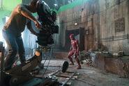 JL-BTS - Ezra Miler-Flash on set
