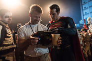 BvS Henry Cavill and Zack Snyderl