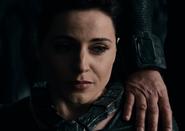 Faora weeps over Krypton