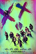 Suicide Squad face poster