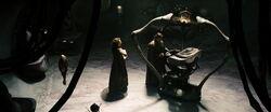 Jor-El, Lara and Kal-El on Krypton