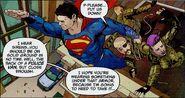 Superman apprehends Kryptonian armed criminals