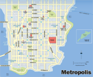 Metropolis map