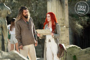 Arthur and Mera embarking on a quest