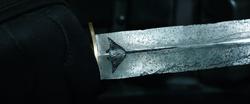The Manta Knife's manta emblem