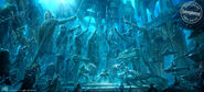 Nereus and Orm's armies face each other concept artwork