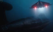 The Manta Sub sneaks up on a sub