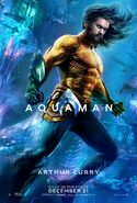 Aquaman - Arthur Curry character poster