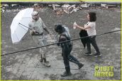 David Dastalmachian on set of Polka Dot Man Suicide Squad 2
