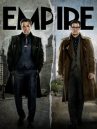 Empire - Batman v Superman Dawn of Justice September 2015 variant cover - Bruce Wayne and Clark Kent