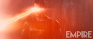 Superman uses his heat vision in the rain