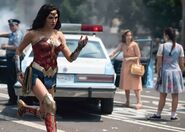 Wonder Woman running through DC