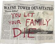 You Let Your Family Die - Newspapaer