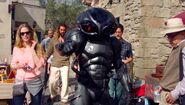 Black Manta on set