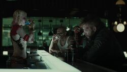 Suicide Squad in the bar