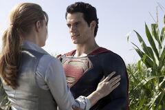 Superman after saving Lois Lane