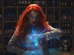 Mera using her power