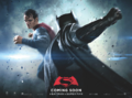 Batman v Superman Dawn of Justice quad poster - Superman facing Batman.png