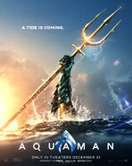 Aquaman teaser poster - A Tide is Coming