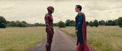 Superman meeting Flash