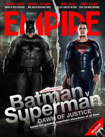 File:Empire - Batman v Superman Dawn of Justice September 2015 variant cover - Batman and Superman.png