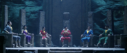Shazam Family sitting in Rock of Eternity