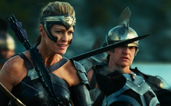 Wonder Woman (2017) Antiope leads Amazon