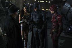 James Gordon meeting Justice League