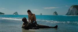 Steve Trevor and Diana on the beach