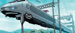 Superman saves train