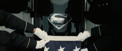 Superman's ceremonial coffin