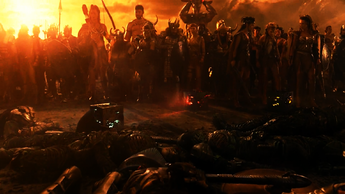 The forces of Earth following its invasion
