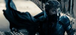 Faora boards the C-17