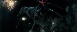 Superman holds down Doomsday