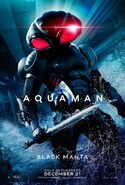 Aquaman - Black Manta character poster