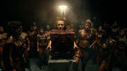 Amazons surrounding a Mother Box