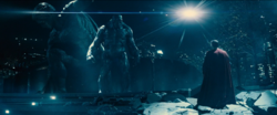 Superman and Doomsday face off at Heroes Park