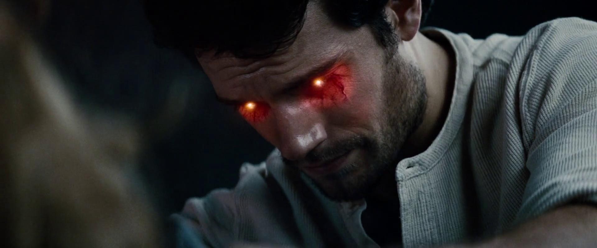 Clark using heat vision