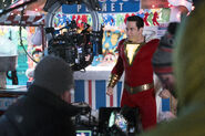 Shazam! behind the scenes - Zachary levi filming