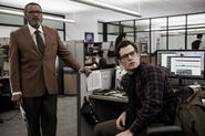 Perry White and Clark Kent in the Daily Planet