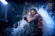Arthur storming a submarine