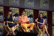Patty Jenkins, Chris Pine & Gal Gadot at the 2018 Comic-Con International 3