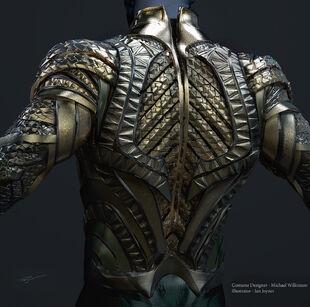 Aquaman Armor Back