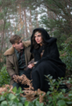 Steve Trevor and Diana in a forest.png