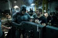 BvS-BTS - Ben Affleck and Zack Snyder on set