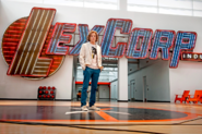 Lex Luthor on LexCorp basketball court