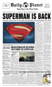 Newspaper from Shazam!