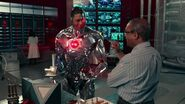 Justice League (2017) Cyborg and his father-