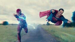 Flash and Superman race