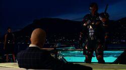 Justice League (2017) Lex Luthor meets Deathstroke